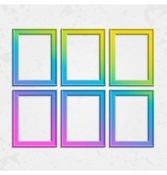 Set of modern bright frames vector image vector image