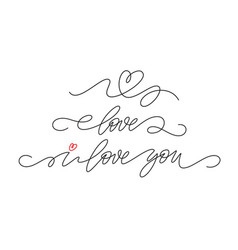 set single continuous line handwriting vector image