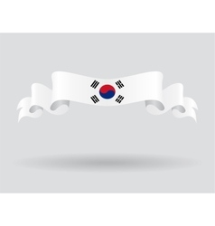 South Korean wavy flag vector image