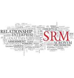 Srm word cloud concept vector