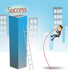Success Jumping vector