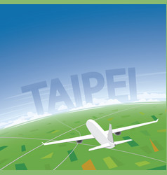 Taipei flight destination vector