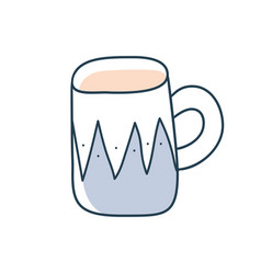 tea or coffee cup cartoon doodle stock icon in vector image