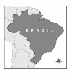 The map of brazil vector