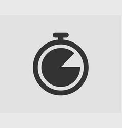 Timer icon stop watch pictograph stopwatch vector