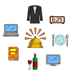 Travel and hotel luxury service icons vector