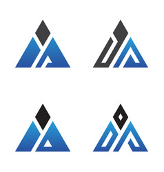 triangle letter vector image