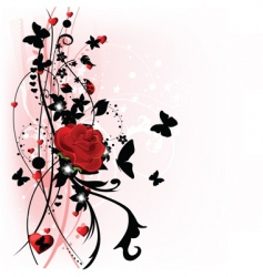 valentine day rose vector image