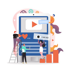 Video content marketing strategy concept vector