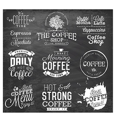 Vintage Coffee Labels and Typographic Elements vector