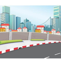 A city with tall buildings vector image vector image
