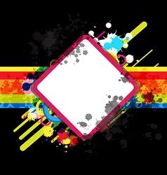 banner art design and blank frame vector image