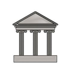 Color blurred stripe of parthenon icon vector