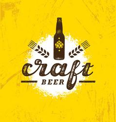 craft beer brewery artisan creative stamp vector image vector image