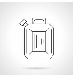 Gasoline canister flat line design icon vector image