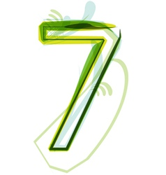 Green number 7 vector image vector image