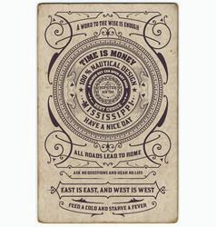 Label design antique frame vintage border vector