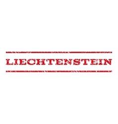 Liechtenstein Watermark Stamp vector image