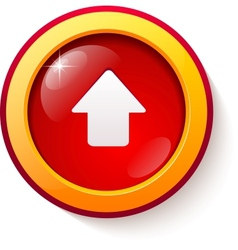 Red glass arrow button vector image vector image