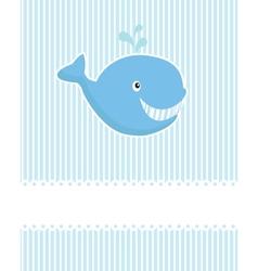 baby boy announcement card vector image vector image