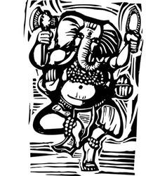 Dancing Ganesha vector image vector image
