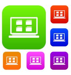 desktop set collection vector image vector image