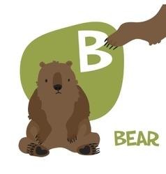 Funny cartoon animals alphabet letter set vector image