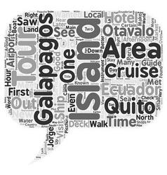 Galapagos Cruise Tour In Ecuador text background vector image
