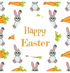 Happy Easter Background Flat Icons Spring vector image vector image
