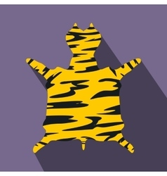 Leopard fur flat icon vector image