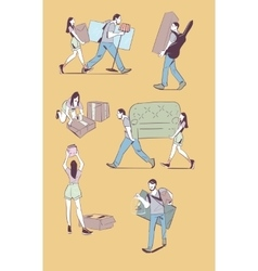 Moving home concept vector image vector image