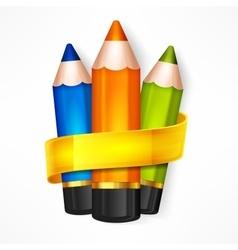 Pencil set Ribbon vector image