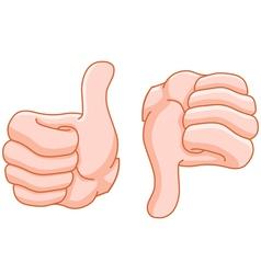 thumb up and thumb down vector image