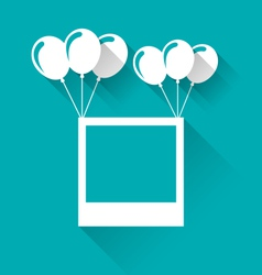 blank photo frame with balloons for your holiday - vector image vector image