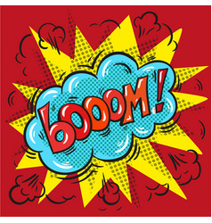 blast booom on a colored background vector image