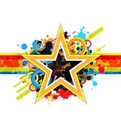 fantastic star design background vector image