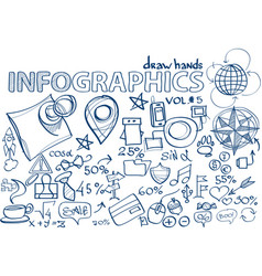 hand draw infographics vol 5 vector image