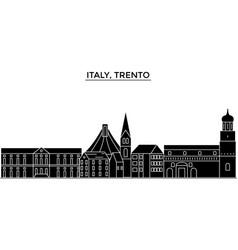 italy trento architecture city skyline vector image vector image