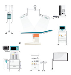 medical hospital with medical equipment vector image