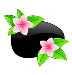 spa pink flowers icons vector image