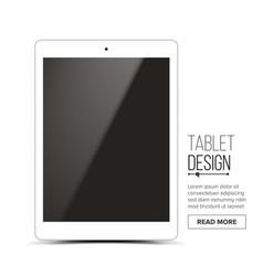 tablet mockup design white modern trendy vector image