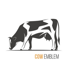 a stylish spotted holstein vector image