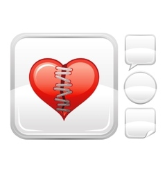 Happy valentines day romance love heart patch vector