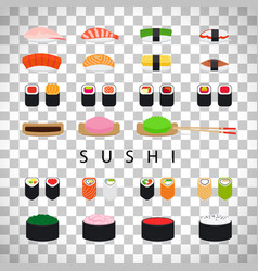 japanese food sushi set vector image