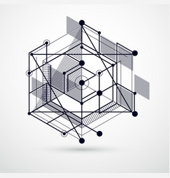 abstract creative geometric art with a variety of vector image