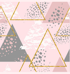 Abstract geometric seamless repeat pattern vector