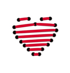 Abstract Red Lace Heart Valentine vector image