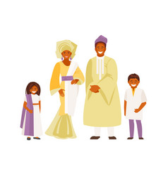 african family in traditional dress vector image