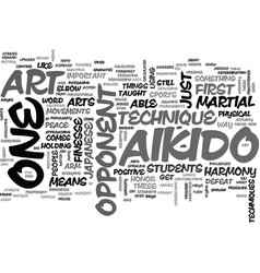 Aikido art text word cloud concept vector