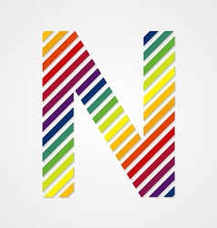 Alphabet Letter N vector